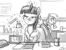126884__safe_artist-colon-johnjoseco_derpy hooves_twilight sparkle_clothes_female_glasses_lab_lab coat_laboratory_mare_pegasus_pony_science_test tube.png