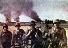German Soldiers posing for Photo during World War II, presumably during Campaign in Russia.jpg