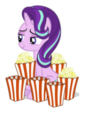 1743814__safe_edit_starlight glimmer_female_food_mare_pony_popcorn_simple background_unicorn_white background.jpg