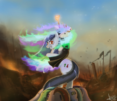 427485__safe_artist-colon-rublegun_princess celestia_oc_ban_banned_branding_branding iron_moderation_napoleon crossing the alps_ponies riding ponies.png