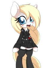 0153_OAT_Pony_AN_M_Aryanne_Hoofler_bipedal_uniform_cute_cat_tooth_sks_clothes_happy_smiling_armband_swastika_long_hair_eyelashes.png