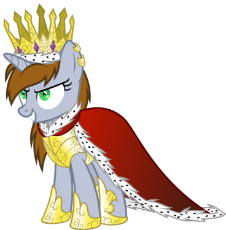 1254398__safe_artist-colon-magister39_oc_oc-colon-littlepip_oc only_abraxo queen_absurd res_cape_clothes_crown_evil_evil grin_fallout equestria_flash p.png