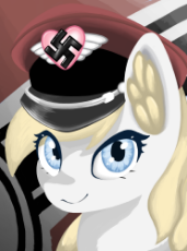 1991097__safe_artist-colon-anonymous_oc_oc-colon-aryanne_earth pony_pony_aryan_aryan pony_blonde_close-dash-up_cute_ear fluff_flag_hat_he.png
