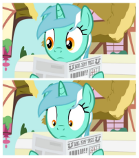 1872732__safe_editor-colon-apex soundwave_lyra heartstrings_epic rage time_bench_female_foal free press_mare_newspaper_pony_ponyville_reaction image_sh.jpeg