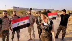 Syria SAA trolls amusement continue in front of encircled Turkey OP 9 at Morek..mp4