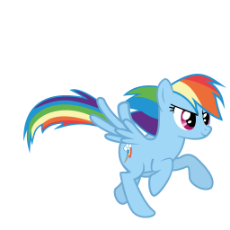 My Little Pony - Rainbow Dash - Running.gif