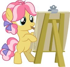 1555518__safe_artist-colon-cloudyglow_kettle corn_marks and recreation_spoiler-colon-s07e21_bipedal_canvas_earth pony_female_filly_mouth hold_painting_.png
