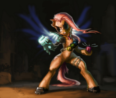 261344__safe_artist-colon-paladin_fluttershy_action pose_badass_bipedal_cyborg_fight_flutterbadass_pony_weapon.jpeg