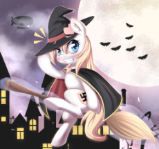 1012483__safe_artist-colon-aryanne_oc_oc-colon-aryanne_oc only_bat_blushing_broom_cat_cloak_clothes_crest_earth pony_female_flying_flying broomstick_fo.jpeg