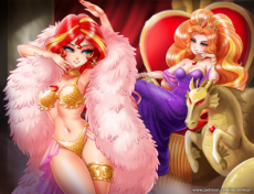2053622__suggestive_artist-colon-racoonsan_adagio dazzle_sunset shimmer_armpits_bedroom eyes_belly button_belly dance_belly dancer_belly dancer outfit_.jpeg