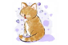 Cute-Cat-Licking-Her-Paw-by-Jen-Digital-Art.png