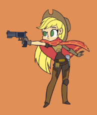 1164220__safe_artist-colon-khuzang_applejack_amputee_appleborg_augmented_crossover_cyborg_gun_handgun_human_humanized_jesse mccree_mccreejack_overwatch.png