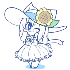 25_OAT_Update_June_2019_smug summer dress cat blushing.png