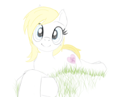 6064337__safe_artist-colon-anonymous_oc_oc-colon-aryanne_earth+pony_pony_art+pack-colon-marenheit+451_animated_blushing_gif_grass_implied+children_nazi_nervous_.gif