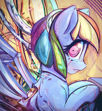 1491144__safe_artist-colon-mirroredsea_rainbow dash_cyborg_female_looking at you_mare_pegasus_pony_robot_robot pony_solo_spread wings_wings.jpeg