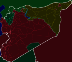 Technicolor Syria Road Map with Frontlines.png