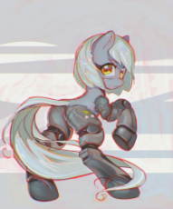 1535409__safe_artist-colon-mirroredsea_limestone pie_cyborg_earth pony_female_looking at you_looking back_mare_pony_prosthetics_science fiction_simple .jpeg