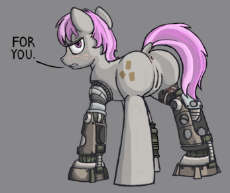 907502__explicit_artist-colon-nukechaser_edit_oc_oc-colon-hired gun_oc only_amputee_anus_baneposting_cyborg_dialogue_dock_fallout equestria_fallout equ.png
