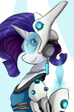 1167533__safe_artist-colon-php25_rarity_amputee_armor_bronycon_bronycon 2016_crossover_cyborg_overwatch_print_prosthetic limb_prosthetics_solo_symmetra.png