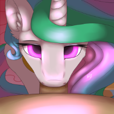 1147579__explicit_artist-colon-poisindoodles_princess celestia_bedroom eyes_blowjob_blushing_cock worship_commission_deepthroat_drool_female_fluffy_glo.png