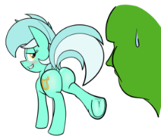 My Little Pony - Lyra - Showing hoof to Anon.png