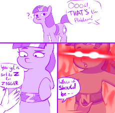2038904__safe_twilight+sparkle_female_pony_mare_unicorn_comic_meme_vulgar_lineart_unicorn+twilight_glowing+eyes_hand_red+eyes_belt_reference_funny_sp.png