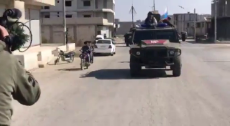 EXCLUSIVE Syria Russian Military Police patrolling along the Turkish border from Kobani towards Jarabulus..mp4